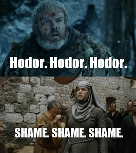 Hodor Meme - 44 funniest game of thrones memes you will ever see