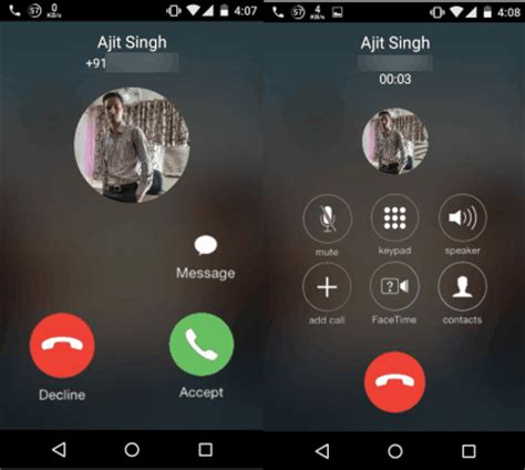 calling android how to get ios 8 dialer for android