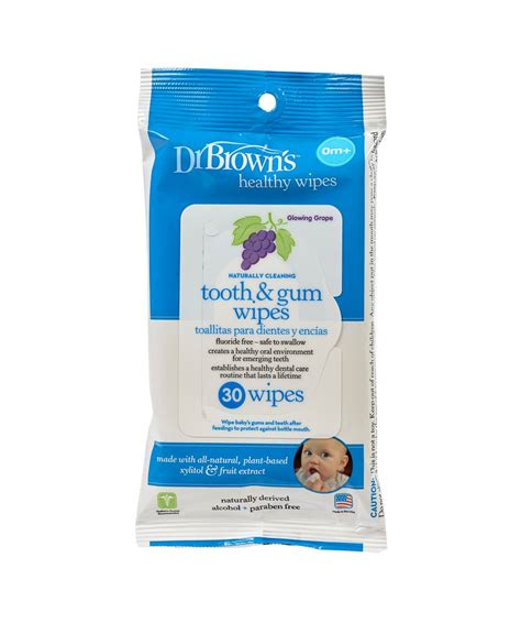 Drbrowns Brown Baby Wipes Tooth And Gum Tissue Basah Bayi dr brown s tooth gum wipes pack of 30 mamas papas bahrain