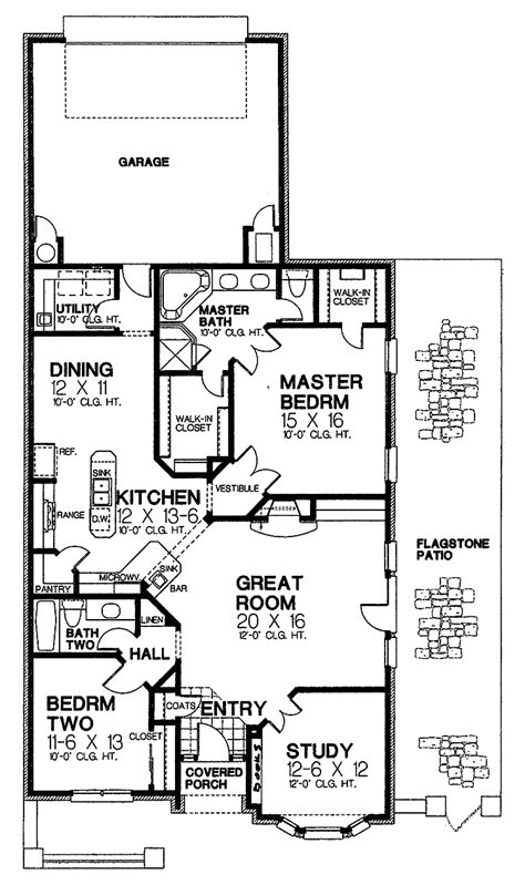 narrow lot house plans with basement images