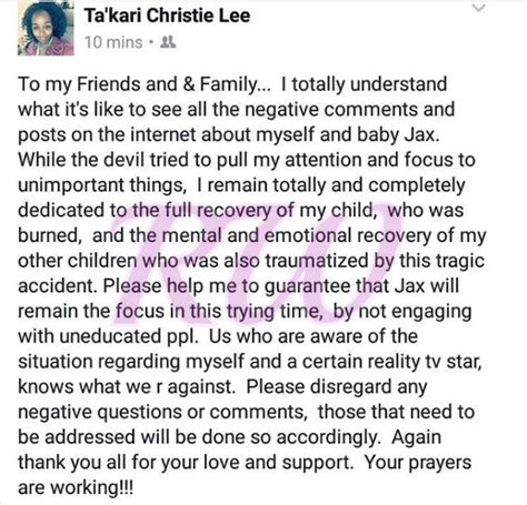 takari lee book lights to a shadow jackie christie s says 8 month old grandson s burning