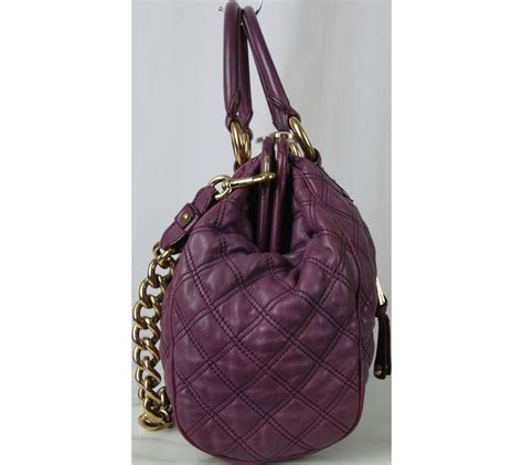 Tas 8093 Marc Jacob Set 2 In 1 marc purple handbag