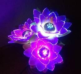 Lotus Of Light Aliexpress Buy Led Flower Lights Lotus Light Buddha
