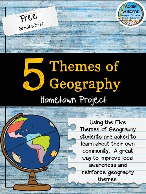 five themes of geography book project free five themes of geography project grades 5 12 free