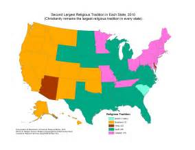 united states religion map america s most common religions by state besides