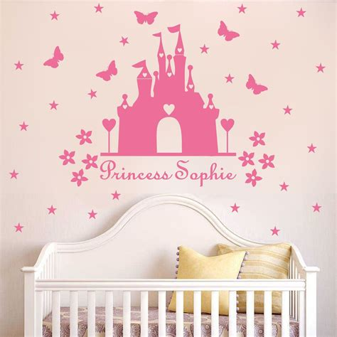 Princess Wall Decals For Nursery Aliexpress Buy W340 Princess Castle Wall Sticker With Personalised Name Room Decor