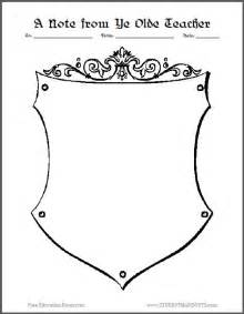 coat of arms template for students a note from ye olde stationery student handouts
