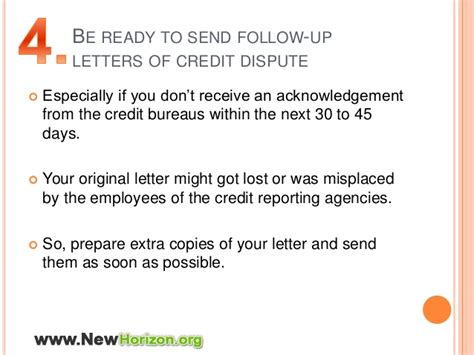 Credit Dispute Follow Up Letter Tips To Dispute Errors Of Your Credit Report