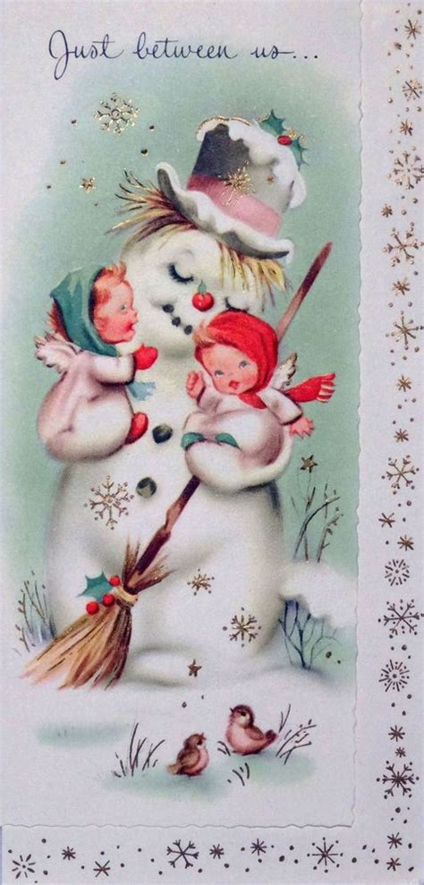 brims 1960s snowman angel 1000 ideas about vintage greeting cards on vintage cards vintage easter and