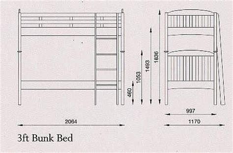 Standard Bunk Bed Size 3ft Single Serene Furnishings Eleanor Hfe Bedstead Bed Mattress Sale