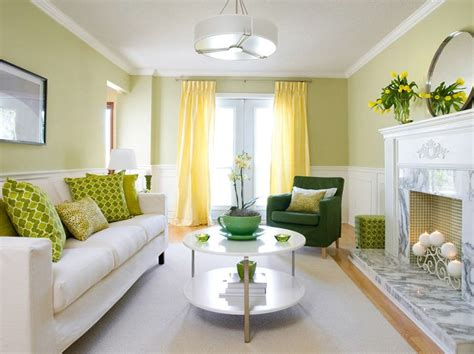 butter yellow curtains lovely spring green yellow contemporary living room design