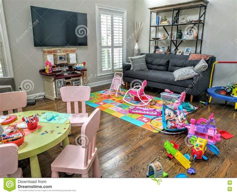 i used to live in a room full of mirrors living room full of toys editorial image image of kids