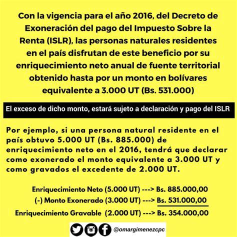 quienes deben presentar renta en el 2016 preguntas frecuentes islr personas naturales a 241 o 2016