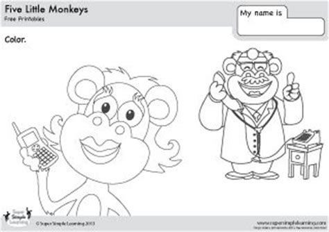 three little monkeys coloring page 1000 images about ingl 233 s on pinterest kindergarten