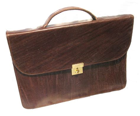 handmade leather briefcase fair trade brown laptop tablet