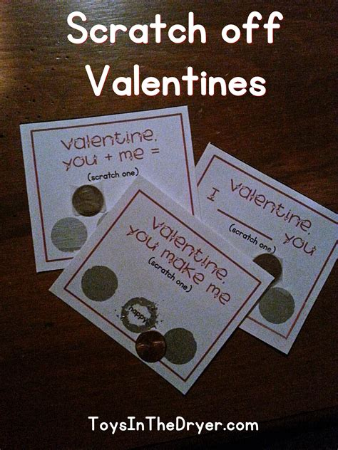scratch off valentines free printable toys in the dryer