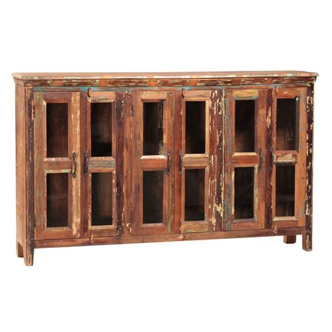 Sideboards With Glass Doors Cape 6 Glass Door Sideboard Harvest Furniture