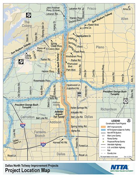 texas tollway authority map dnt description progress ntta a texas tollway authority website