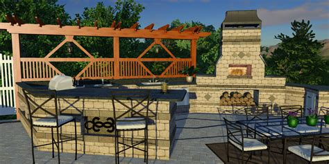 outdoor kitchen design software 3d pool and landscaping design software features vip3d