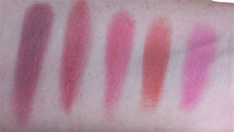 The Balm Instain Swiss Dot Blush the balm instain blushes from l to r pinstripe houndstooth toile swiss dot argyle