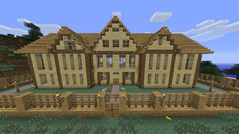 build a mansion minecraft wooden house download youtube