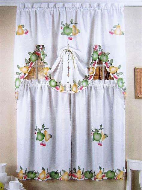 fancy kitchen curtains fruit temptation kitchen curtain swag set decorative short