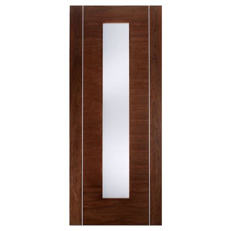 Frosted Glass Panel Interior Door by Door Walnut Frame Frosted Glass Panel