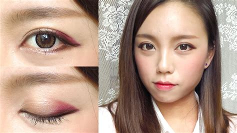 youtube tutorial makeup korea korean ulzzang style burgundy makeup tutorial youtube
