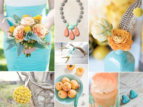 Yellow And Turquoise Wedding Decorations