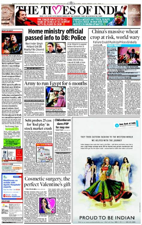 editorial section of times of india pin times of india newspaper advertising chennai on pinterest