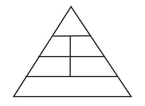 Blank Food Pyramid Template by Pyramid Blank Pencil And In Color Pyramid Blank