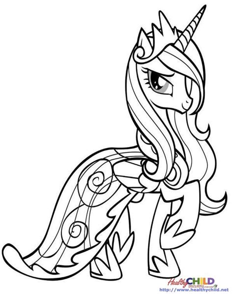 my little pony cadence coloring pages princess cadence my little pony coloring pages