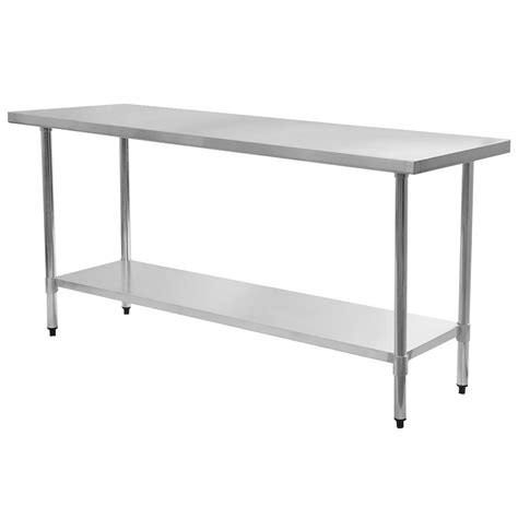 kitchen prep table stainless steel 24 quot x 72 quot stainless steel commercial kitchen food prep