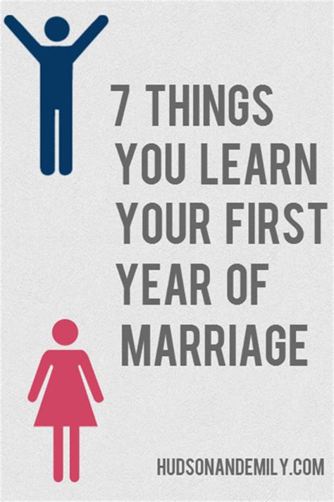 7 Things To Consider When Marrying A Younger by 7 Things You Learn Your Year Of Marriage Hudson