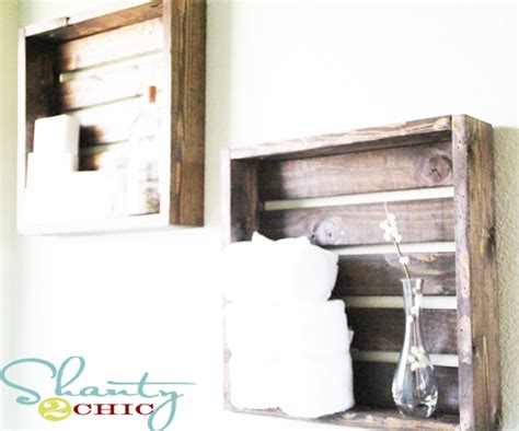 Crate Shelves Bathroom by 5 Crate Shelves Shanty 2 Chic