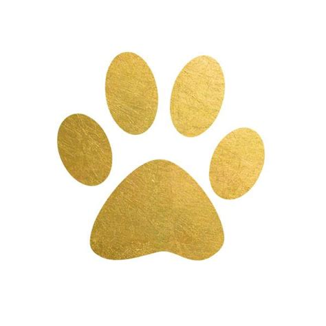 2 pack paw print metallic temporary gold foil tattoo