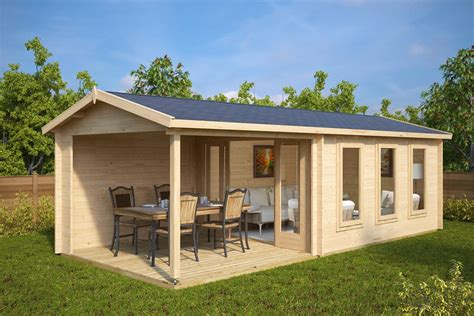 terrasse 6 x 5 garden summer house with veranda e 12m 178 44mm 3 x 7