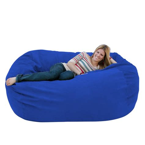 microfiber bean bag chair bean bag chair large 6 foot cozy sack premium foam filled