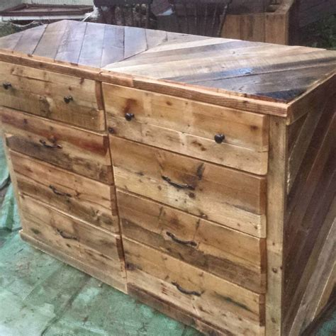 How To Make A Wooden Dresser by Wooden Pallet Dresser Chest Of Drawers 99 Pallets