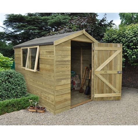 shedswarehousecom hanbury ft  ft pressure treated tongue  groove apex wooden shed