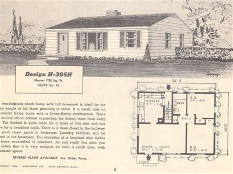 1950s floor plans retro 1950s style homes 1950s ranch style home plans