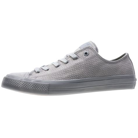 Converse All Ox Grey converse chuck all ii ox mens trainers in grey