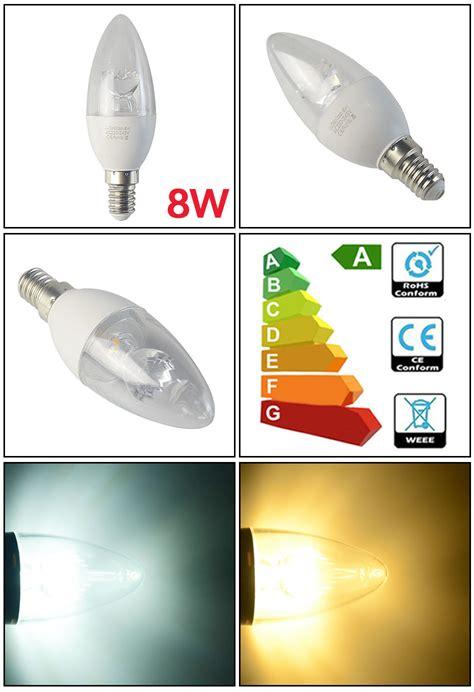 e14 led le 12 6x e14 b22 dimmable led candle light bulbs 5w 45w 8w