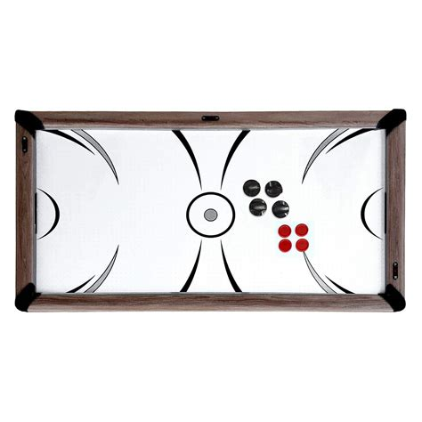 7 air hockey pool table combo driftwood 7 ft air hockey table combo set with benches