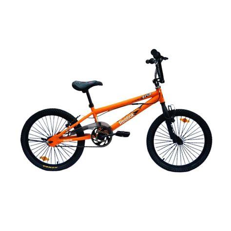 Harga Bmx Reebok Trix jual reebok trix with rotor bicycle sepeda bmx orange