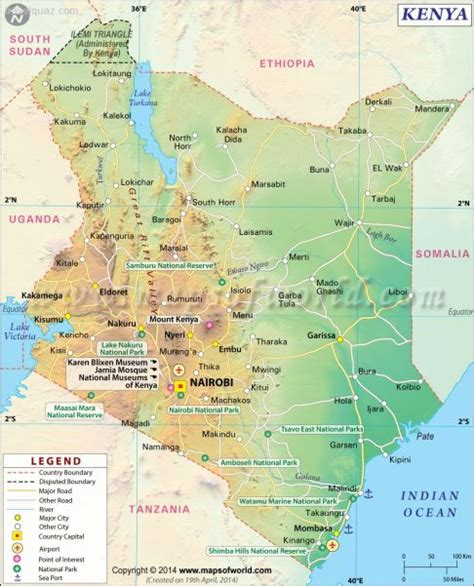 map of kenya map of kenya travel map travelquaz