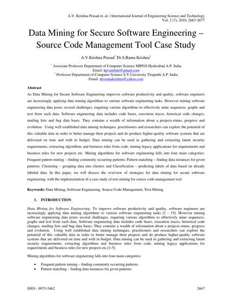 (PDF) Data Mining for Secure Software...