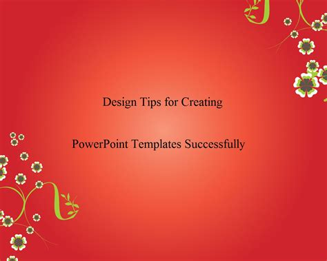 powerpoint template design tips how to creating powerpoint templates successfully