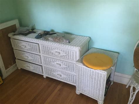 white wicker bedroom set letgo 6 piece white wicker bedroom set in san jose ca