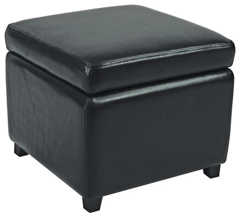 Flip Top Ottoman Jonathan Flip Top Ottoman Black Contemporary Footstools Cubes And Ottomans By Zopalo